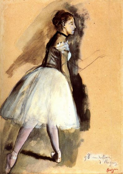 Degas, Edgar: Dancer in a Ballet Position Fine Art Print/Poster. Sizes: A4/A3/A2/A1 (00663)